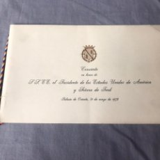 Documentos antiguos: CONCIERTO EN HONOR DE LL.EE. EL PRESIDENTE DE LOS ESTADOS UNIDOS DE AMÉRICA Y SEÑORA DE FORD - 1975. Lote 183564718