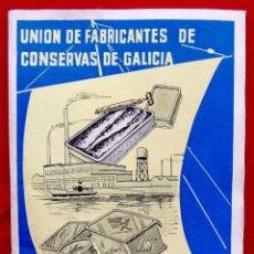 Documentos antiguos: UNIÓN DE FABRICANTES DE CONSERVAS DE GALICIA. AÑO: 1957. FERIA DEL MAR DE SAN SEBASTIÁN. 46 PÁGINAS.. Lote 183570500