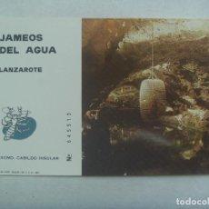 Documentos antiguos: JAMEOS DEL AGUA , LANZAROTE : ENTRADA A LA GRUTA . 1970. Lote 183574810