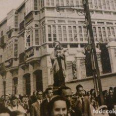 Documentos antiguos: TINEO ASTURIAS PROCESION DE LA VIRGEN DEL CARMEN HUECOGRABADO AÑOS 50. Lote 183644485