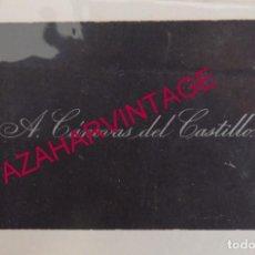 Documentos antiguos: TARJETA DE VISITA ORIGINAL DE ANTONIO CANOVAS DEL CASTILLO, MUY RARA. Lote 183656195