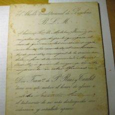 Documentos antiguos: NOMBRAMIENTO GUARDIA MUNICIPAL .EL ALCALDE CONSTITUCIONAL DE BARCELONA ANTONIO RIUS I TAULET 1887. Lote 183743465