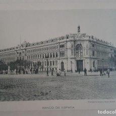 Documentos antiguos: MADRID BANCO DE ESPAÑA Y PLAZA DE ORIENTE DOS FOTOTIPIAS DE HAUSER & MENET HACIA 1900. Lote 183776452
