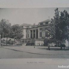 Documentos antiguos: MADRID MUSEO DEL PRADO Y PLAZA MAYOR DOS FOTOTIPIAS DE HAUSER & MENET HACIA 1900. Lote 183776602