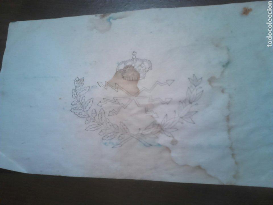 Documentos antiguos: Antiguo telegrama de escala,ver - Foto 2 - 183867817
