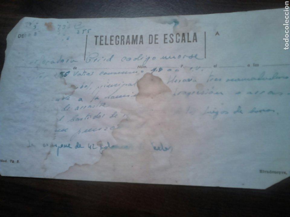 ANTIGUO TELEGRAMA DE ESCALA,VER (Coleccionismo - Documentos - Otros documentos)