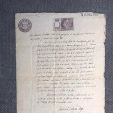 Documentos antiguos: LERIDA. DOCUMENTO. PARTIDA BAUTISMAL. PARROQUIA DE SAN LORENZO MÁRTIR (FEBRERO DE 1866). Lote 183925331