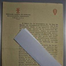 Documentos antiguos: TRIPTICO DE LA DELEGACIÓN NACIONAL DE SINDICATOS DE FALANGE ESPAÑOLA Y DE LAS JONS 1941. Lote 183943665