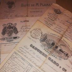 Documentos antiguos: 1884 HOJAS DE PEDIDO 4 UNIDADES. Lote 183946272
