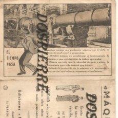 Documentos antiguos: TABLA DE CONVERSION DE MEDIDA INGLESA A MÉTRICA, ED. MAQUINAS-CALCULOS TALLER, FERROL DEL CAUDILLO. Lote 183954562