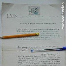 Documentos antiguos: REPUBLICA - MINISTERIO INSTRUCCION PUBLICA Y BELLAS ARTES: NOMBRAMIENTO ALUMNO. SEVILLA, 1931. Lote 183954730