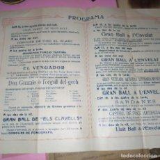Documentos antiguos: PROGRAMA FESTA MAJOR GUINARDO Y SUS CONTORNOS 1913.. Lote 184059376