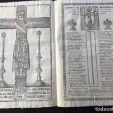 Documentos antiguos: COBLES AL MISTERIOS BULTO DE LA SANTA MAJESTAR DE CHRISTO EN LA IGLESIA DE CALDES DE MONBUY - 1794. Lote 184265118