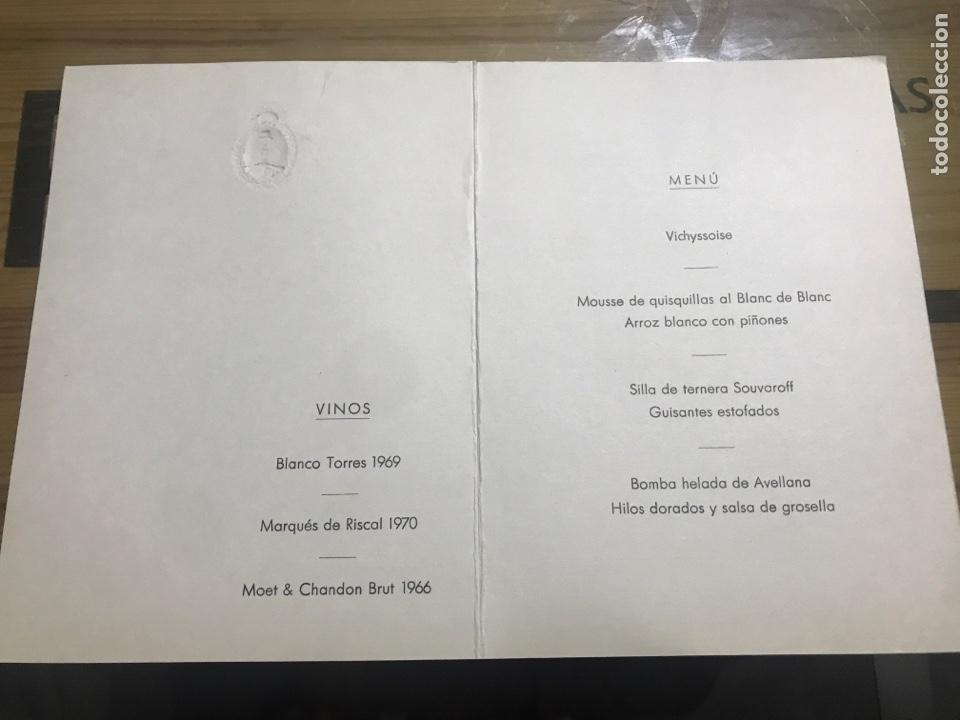 Documentos antiguos: CENA EN HONOR DE SUS EXCELENCIAS EL JEFE DE ESTADO Y SEÑORA - Foto 2 - 184464951