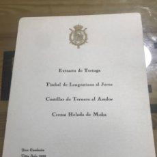 Documentos antiguos: PALACIO REAL 27 DE NOVIEMBRE DE 1975. Lote 184469680
