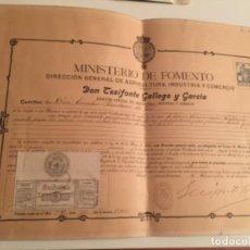 Documenti antichi: DOCUMENTO PATENTE DE 1910 , ETIQUETA DE NESFARINA , ZARAGOZA. Lote 184736677