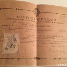 Documenti antichi: PATENTE DE CARTEL PUBLICITARIO NESFARINA, ZARAGOZA , 1910. Lote 184736757