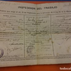 Documenti antichi: LOTE DOCUMENTOS ANTIGUOS. 1930-1950. Lote 185689806