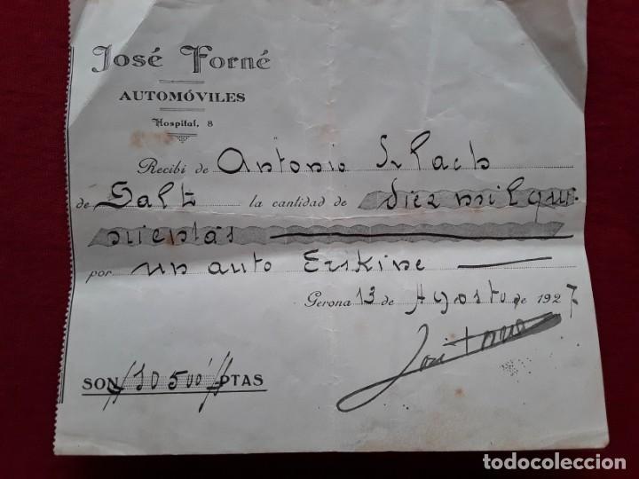 LOTE COMPLETO PAPELES COMPRA COCHE IMPORTACIÓN ESTUDEBAKER ( ERSKINE). 1927 (Coleccionismo - Documentos - Otros documentos)