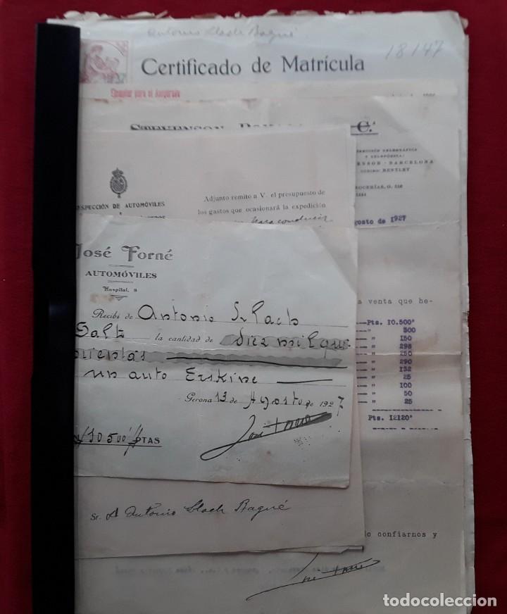 Documentos antiguos: Lote completo papeles compra coche importación ESTUDEBAKER ( Erskine). 1927 - Foto 5 - 185986796