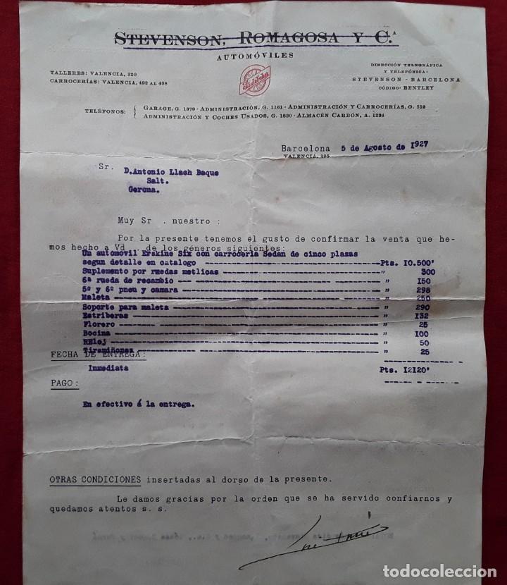 Documentos antiguos: Lote completo papeles compra coche importación ESTUDEBAKER ( Erskine). 1927 - Foto 7 - 185986796