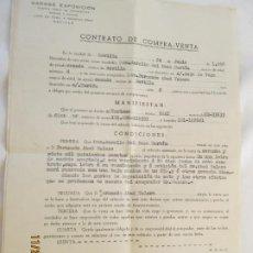 Documentos antiguos: CONTRATO DE COMPRA-VENTA DE VEHÍCULO DOCUMENTO - SEAT SE-33633 - SEVILLA 1958.. Lote 186043406