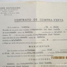 Documentos antiguos: CONTRATO DE COMPRA-VENTA DE VEHÍCULO - CITROEN SS11664 - SEVILLA 1958.. Lote 186043736