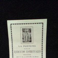 Documentos antiguos: LA PURISIMA CASA DE EJERCICIOS ESPIRITUALES - COMPAÑIA JESUS - ALACUAS - 1916. Lote 186074567