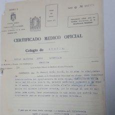 Documentos antiguos: CERTIFICADO MEDICO OFICIAL COLEGIO DE MURCIA ABANILLA AÑO 1963. Lote 186188156