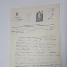 Documentos antiguos: CERTIFICADO MEDICO OFICIAL SEVILLA AÑO 1972. Lote 186188288