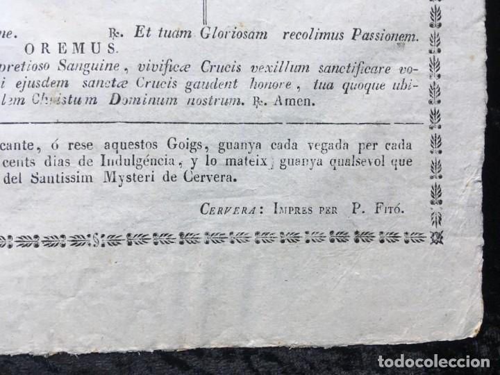 Documentos antiguos: GOIGS EN ALABANSA DEL SS. MYSTERI DE LA CIUTAT DE CERVERA - - Foto 4 - 186220782