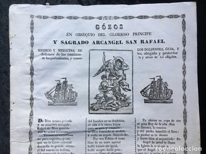 Documentos antiguos: GÓZOS EN OBSEQUIO DEL GLORIOSO PRINCIPE Y SAGRADO ACANGEL SAN RAFAEL - BARCELONA - V. TORRAS - Foto 2 - 186221465