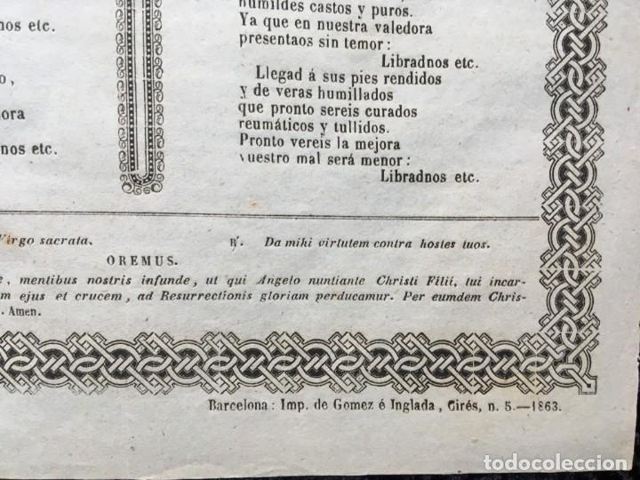 Documentos antiguos: GOZOS SEÑORA DEL REMEDIO CALDES DE MOMBUY - 1863 - Imp. Gomez é Inglada - Foto 5 - 186268598