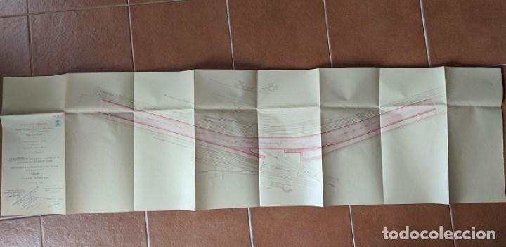 Documentos antiguos: 1925 MZA RED CATALANA - FERROCARRIL - ANTEPROYECTO PASO A NIVEL AVENIDA ICARIA - BARCELONA A MATARO - Foto 2 - 186310002