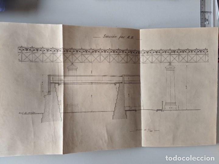 Documentos antiguos: 1925 MZA RED CATALANA - FERROCARRIL - ANTEPROYECTO PASO A NIVEL AVENIDA ICARIA - BARCELONA A MATARO - Foto 6 - 186310002