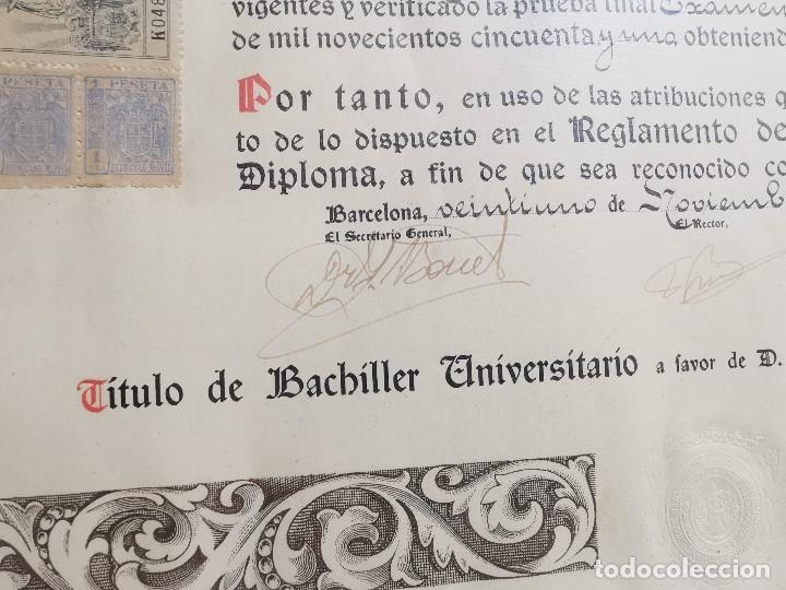 Documentos antiguos: TITULO ENMARCADO DE BACHILLER UNIVERSITARIO 1951 UNIVERSIDAD BARCELONA------REF-1AC - Foto 11 - 186453656