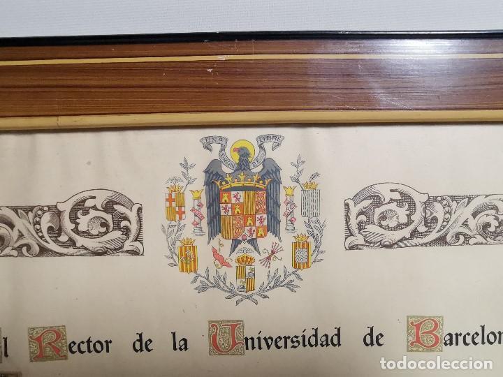 Documentos antiguos: TITULO ENMARCADO DE BACHILLER UNIVERSITARIO 1951 UNIVERSIDAD BARCELONA------REF-1AC - Foto 14 - 186453656