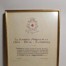 Documentos antiguos: CRUZ ROJA ESPAÑOLA--1976----DIPLOMA MEDALLA DE PLATA--------REF-1AC. Lote 186453946