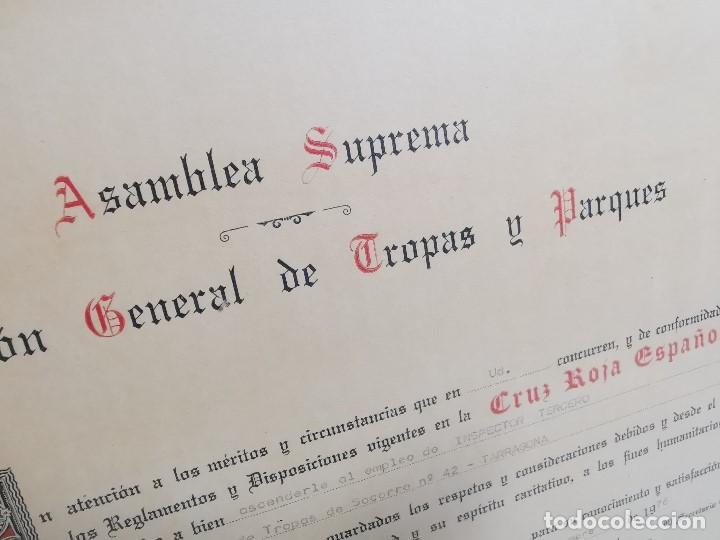 Documentos antiguos: CRUZ ROJA ESPAÑOLA--1976--INSPECCION DE TROPAS Y PARQUES--NOMBRAMIENTO INSPECTOR ----REF-1AC - Foto 3 - 186454181
