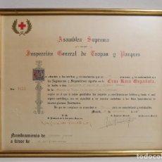 Documentos antiguos: CRUZ ROJA ESPAÑOLA--1976--INSPECCION DE TROPAS Y PARQUES--NOMBRAMIENTO INSPECTOR ----REF-1AC. Lote 186454181