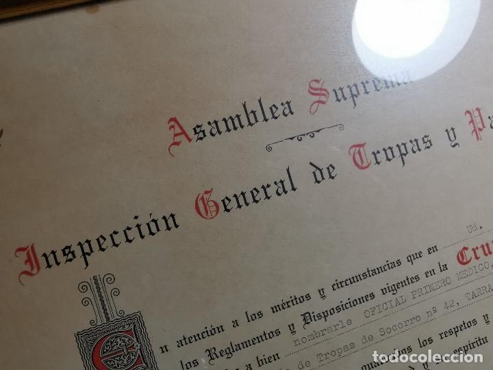 Documentos antiguos: CRUZ ROJA ESPAÑOLA--1976--INSPECCION DE TROPAS Y PARQUES--NOMBRAMIENTO OFICIAL MEDICO 1º ----REF-1AC - Foto 8 - 186454315
