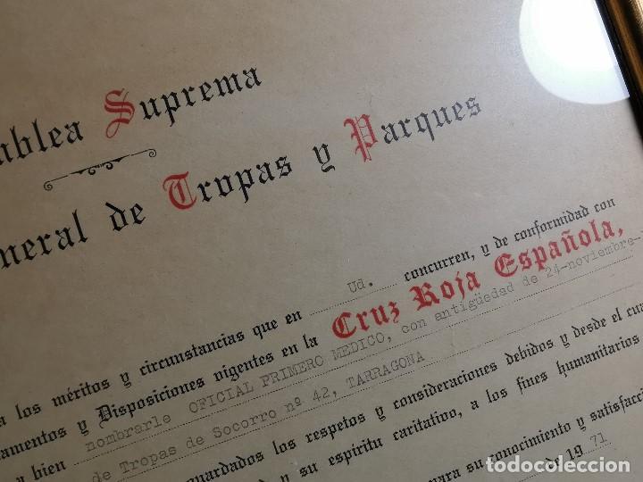 Documentos antiguos: CRUZ ROJA ESPAÑOLA--1976--INSPECCION DE TROPAS Y PARQUES--NOMBRAMIENTO OFICIAL MEDICO 1º ----REF-1AC - Foto 9 - 186454315