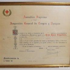 Documentos antiguos: CRUZ ROJA ESPAÑOLA--1976--INSPECCION DE TROPAS Y PARQUES--NOMBRAMIENTO OFICIAL MEDICO 1º ----REF-1AC. Lote 186454315
