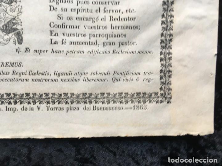 Documentos antiguos: GOZOS SAN PEDRO - SAN PEDRO DE LAS PUELLAS - BARCELONA - 1863 - IMP. V. TORRAS - Foto 3 - 187226792