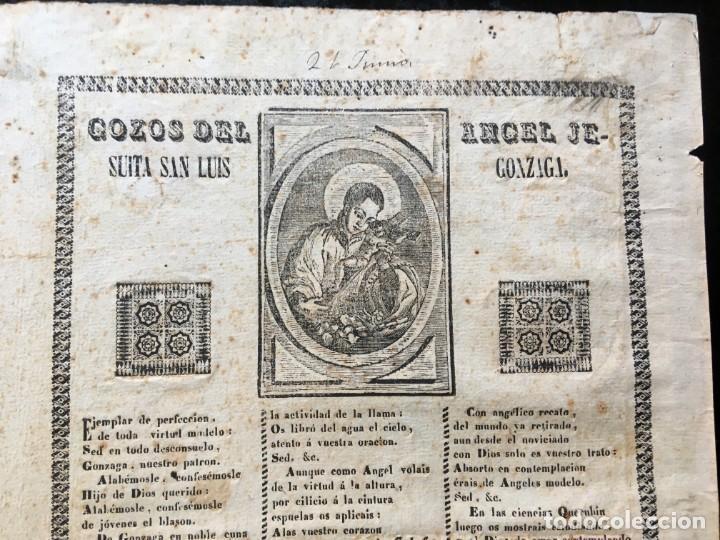 Documentos antiguos: GOZOS DEL ANGEL JESUITA SAN LUIS GONZAGA - LERIDA - IMPRENTA DE LA V. COROMINAS - Foto 2 - 187227536
