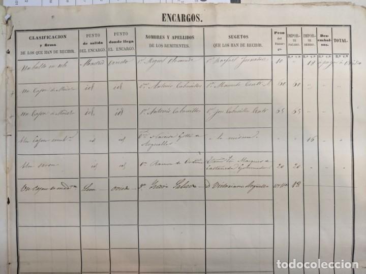 Documentos antiguos: 1851 1852 DILIGENCIAS DEL PONIENTE DE ESPAÑA - MADRID OVIEDO - 18 HOJAS REGISTRO DE VIAJES ASTURIAS - Foto 5 - 187610216