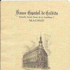 Documentos antiguos: == PA390 - LIBRETA DE AHORRO DEL BANCO ESPAÑOL DE CREDITO - 1971. Lote 188474816