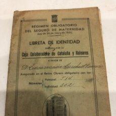 Documentos antiguos: LIBRETA DE IDENTIDAD. Lote 188589520