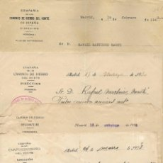 Documentos antiguos: LOTE 6 CARTAS VARIAS COMPAÑÍA DE LOS CAMINOS DE HIERRO DEL NORTE AÑOS 1925 A 1940 - SILLA, REBOLLAR. Lote 189288791