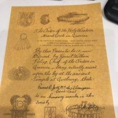 Documentos antiguos: DIPLOMA. Lote 189582407